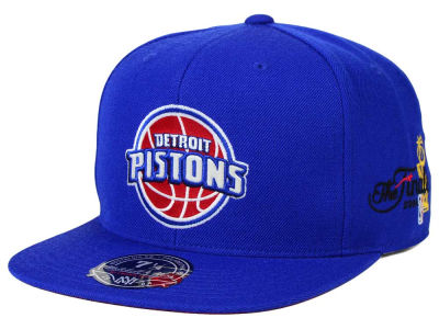 Detroit Pistons Mitchell and Ness NBA HWC The Champs Fitted Cap