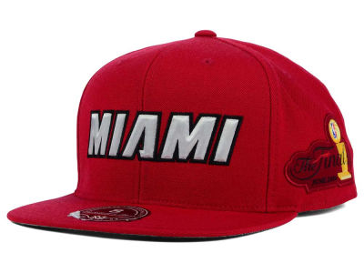Miami Heat Mitchell and Ness NBA HWC The Champs Fitted Cap