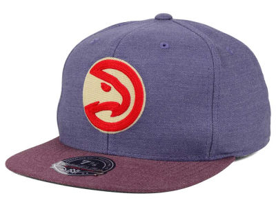 Atlanta Hawks Mitchell and Ness NBA Heather Profile Fitted Cap