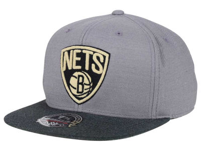 Brooklyn Nets Mitchell and Ness NBA Heather Profile Fitted Cap