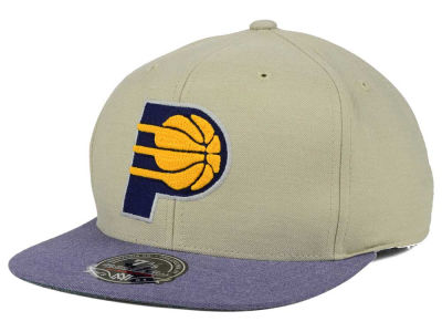 Indiana Pacers Mitchell and Ness NBA Heather Profile Fitted Cap