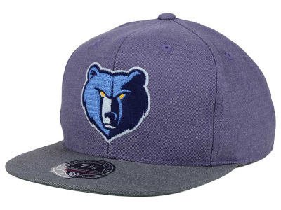 Memphis Grizzlies Mitchell and Ness NBA Heather Profile Fitted Cap