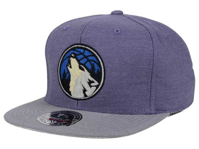 Minnesota Timberwolves Mitchell and Ness NBA Heather Profile Fitted Cap