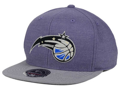Orlando Magic Mitchell and Ness NBA Heather Profile Fitted Cap