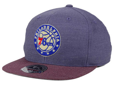 Philadelphia 76ers Mitchell and Ness NBA Heather Profile Fitted Cap