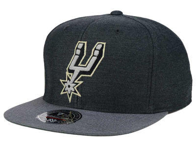 San Antonio Spurs Mitchell and Ness NBA Heather Profile Fitted Cap