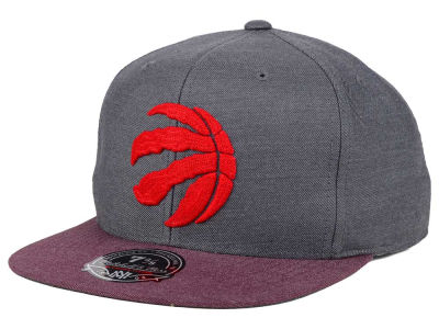 Toronto Raptors Mitchell and Ness NBA Heather Profile Fitted Cap