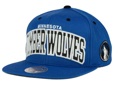 Minnesota Timberwolves Mitchell and Ness NBA Reflective Arch Snapback Cap