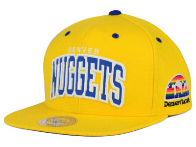 Denver Nuggets Mitchell and Ness NBA Reflective Arch Snapback Cap