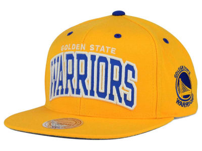 Golden State Warriors Mitchell and Ness NBA Reflective Arch Snapback Cap