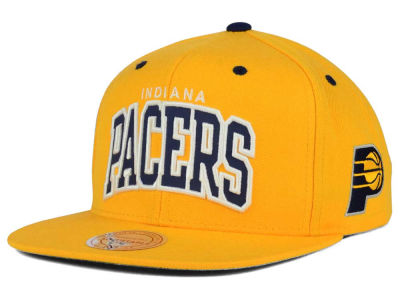 Indiana Pacers Mitchell and Ness NBA Reflective Arch Snapback Cap