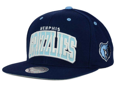 Memphis Grizzlies Mitchell and Ness NBA Reflective Arch Snapback Cap