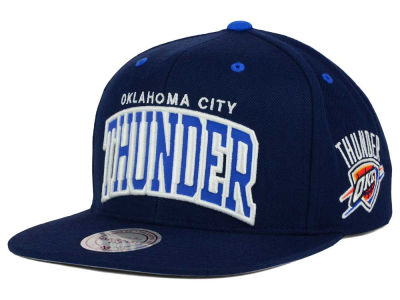 Oklahoma City Thunder Mitchell and Ness NBA Reflective Arch Snapback Cap