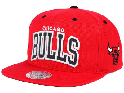 Chicago Bulls Mitchell and Ness NBA Reflective Arch Snapback Cap