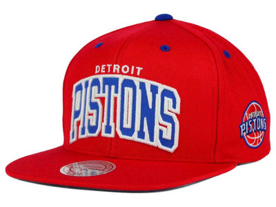 Detroit Pistons Mitchell and Ness NBA Reflective Arch Snapback Cap