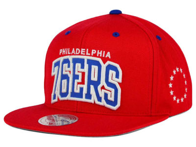 Philadelphia 76ers Mitchell and Ness NBA Reflective Arch Snapback Cap