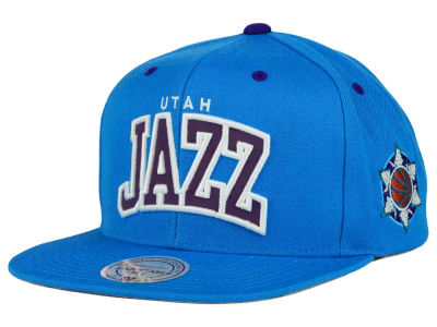 Utah Jazz Mitchell and Ness NBA Reflective Arch Snapback Cap