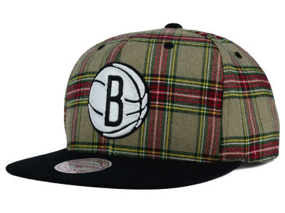 Brooklyn Nets Mitchell and Ness NBA Plaid It Snapback Cap