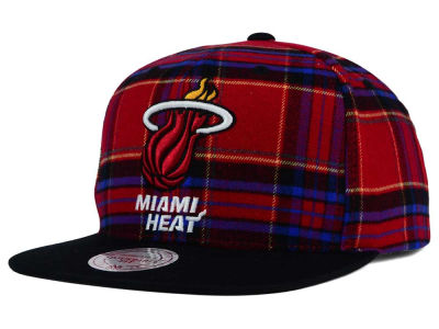 Miami Heat Mitchell and Ness NBA Plaid It Snapback Cap