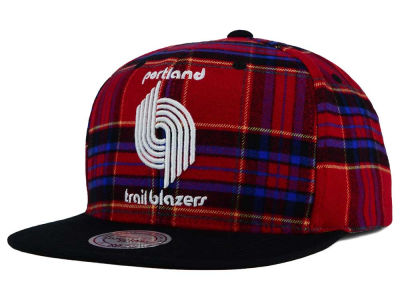 Portland Trail Blazers Mitchell and Ness NBA Plaid It Snapback Cap