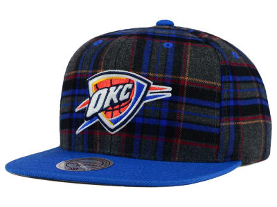 Oklahoma City Thunder Mitchell and Ness NBA Plaid It Snapback Cap