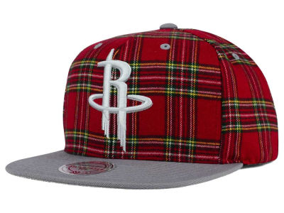 Houston Rockets Mitchell & Ness NBA Plaid It Snapback Cap