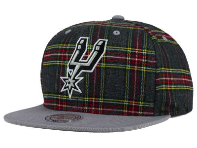 San Antonio Spurs Mitchell and Ness NBA Plaid It Snapback Cap