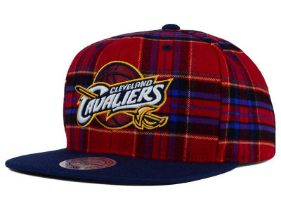 Cleveland Cavaliers Mitchell and Ness NBA Plaid It Snapback Cap
