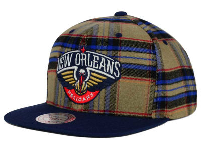 New Orleans Pelicans Mitchell and Ness NBA Plaid It Snapback Cap