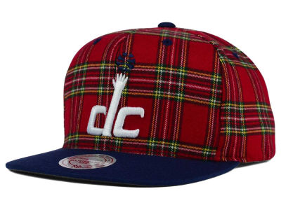 Washington Wizards Mitchell and Ness NBA Plaid It Snapback Cap