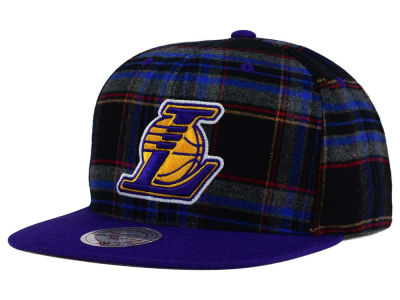 Los Angeles Lakers Mitchell and Ness NBA Plaid It Snapback Cap