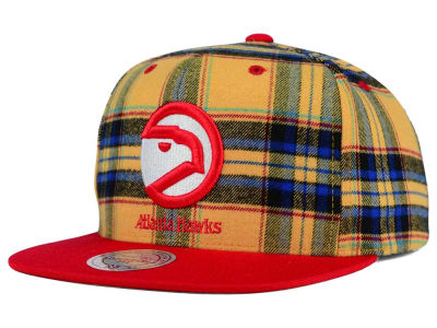 Atlanta Hawks Mitchell and Ness NBA Plaid It Snapback Cap