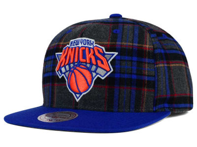 New York Knicks Mitchell and Ness NBA Plaid It Snapback Cap
