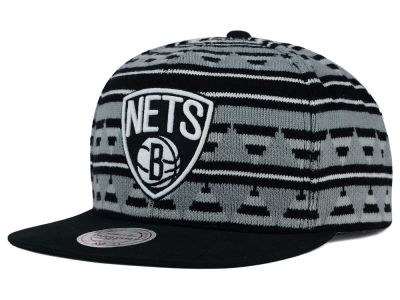 Brooklyn Nets Mitchell and Ness NBA Mixtec Snapback Cap