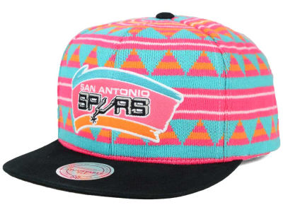 San Antonio Spurs Mitchell and Ness NBA Mixtec Snapback Cap