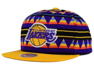 Los Angeles Lakers Mitchell and Ness NBA Mixtec Snapback Cap
