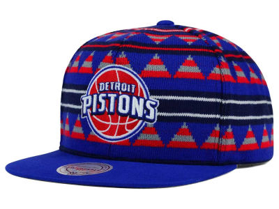 Detroit Pistons Mitchell and Ness NBA Mixtec Snapback Cap