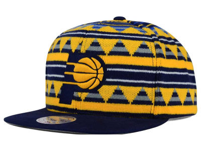 Indiana Pacers Mitchell and Ness NBA Mixtec Snapback Cap