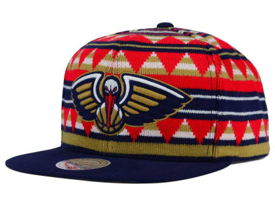 New Orleans Pelicans Mitchell and Ness NBA Mixtec Snapback Cap