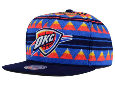 Oklahoma City Thunder Mitchell and Ness NBA Mixtec Snapback Cap