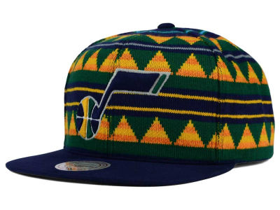 Utah Jazz Mitchell and Ness NBA Mixtec Snapback Cap