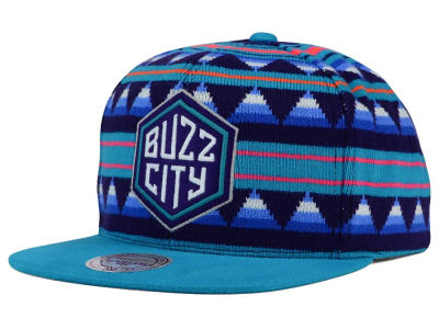 Charlotte Hornets Mitchell and Ness NBA Mixtec Snapback Cap