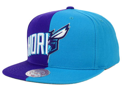 Charlotte Hornets Mitchell and Ness NBA Split Snapback Cap