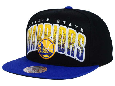 Golden State Warriors Mitchell and Ness NBA Double Bonus Snapback Cap
