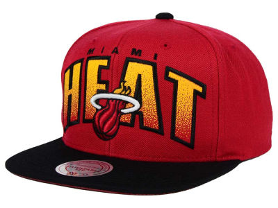 Miami Heat Mitchell and Ness NBA Double Bonus Snapback Cap