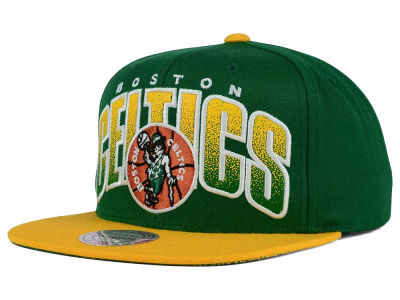 Boston Celtics Mitchell and Ness NBA Double Bonus Snapback Cap