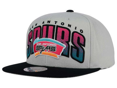San Antonio Spurs Mitchell & Ness NBA Double Bonus Snapback Cap