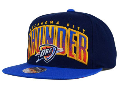 Oklahoma City Thunder Mitchell and Ness NBA Double Bonus Snapback Cap
