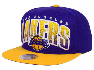 Los Angeles Lakers Mitchell and Ness NBA Double Bonus Snapback Cap