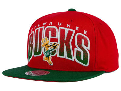 Milwaukee Bucks Mitchell and Ness NBA Double Bonus Snapback Cap